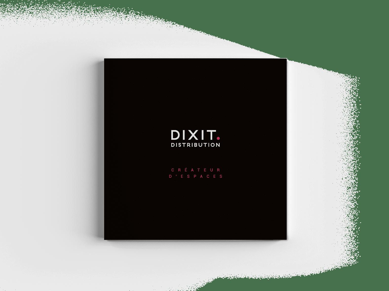 Création couverture catalogue Dixit pour son nouveau positionnement, par l'agence de création Siouxe, à Paris.