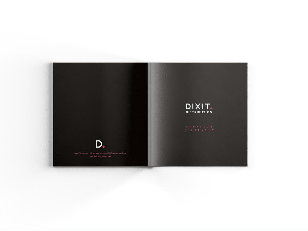 Création couverture catalogue Dixit pour son nouveau positionnement, par l'agence de designSiouxe, à Paris.